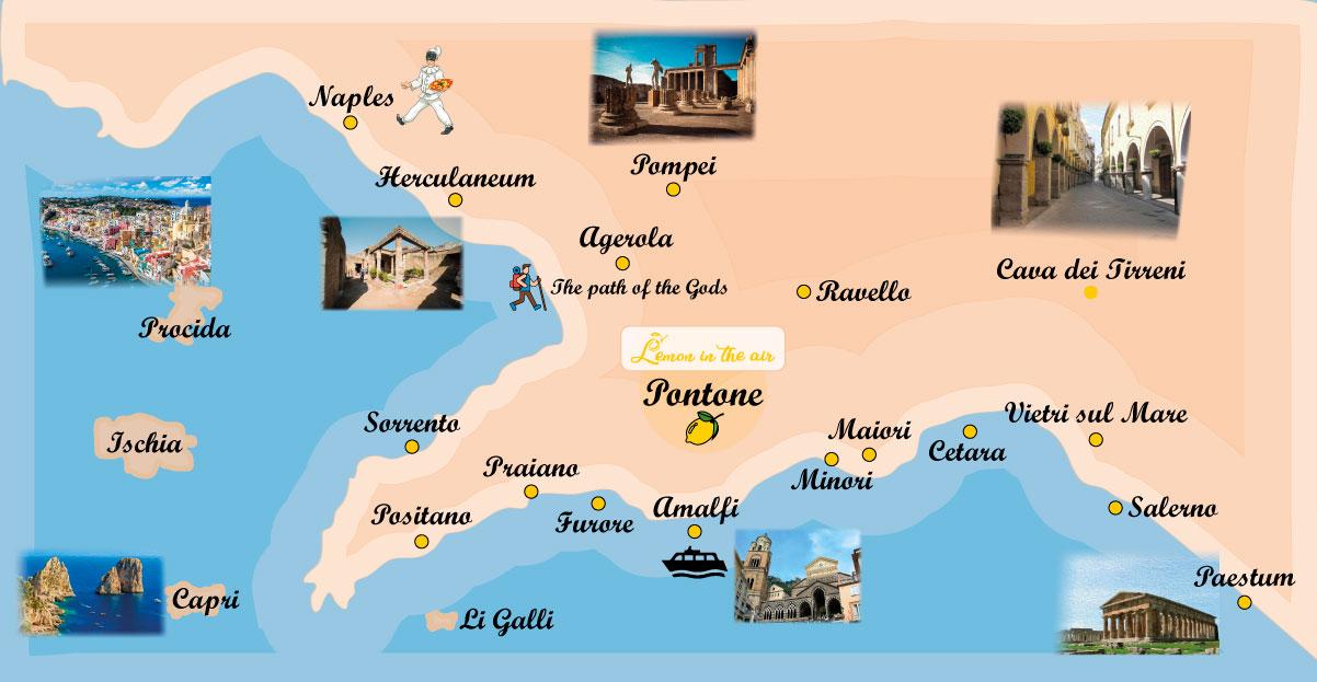 Cartina Costiera Amalfitana E Capri.Lemon In The Air Apartment Costiera Amalfitana